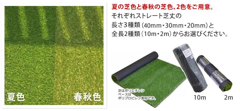 夏の芝色と春秋の芝色、2色をご用意。