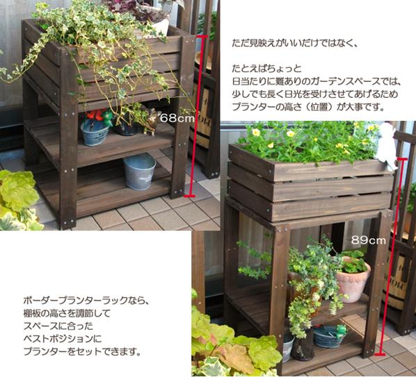 ラックを使って鉢植えを日当たりのベストポジションに!