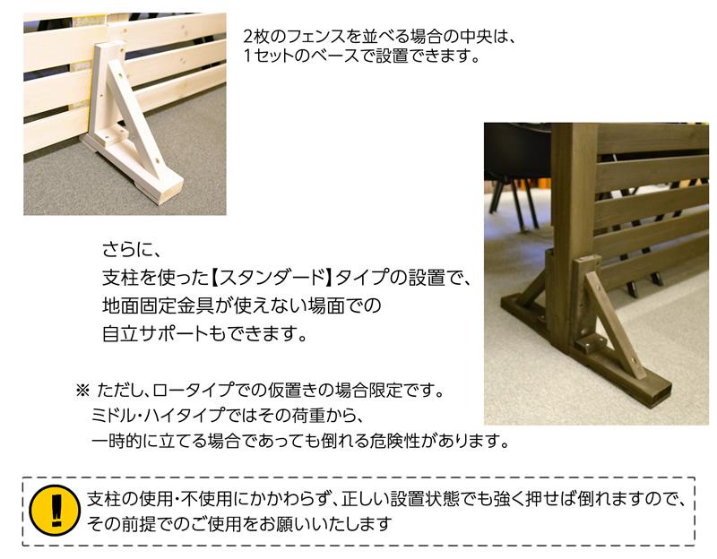 マルチフットは支柱設置フェンスの自立にもご利用頂けます