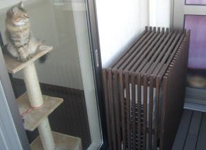 エアコン室外機カバー使用例