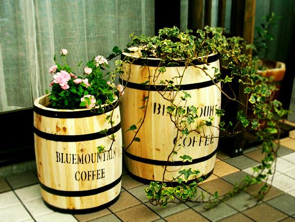 コーヒーバレルプランター 使用例